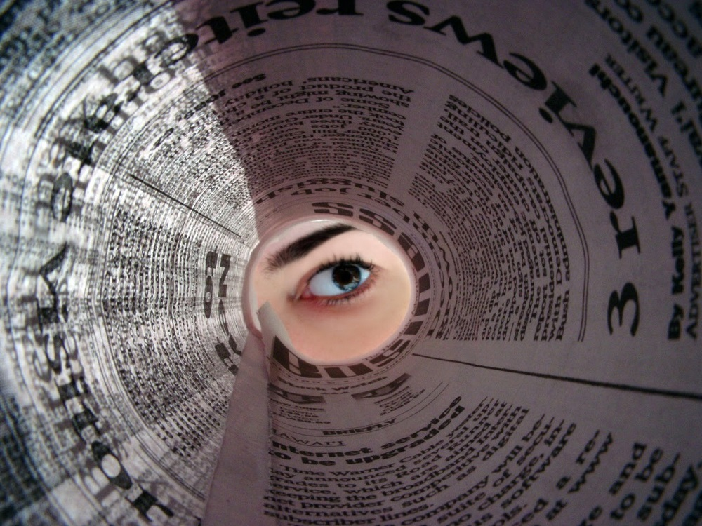 Newspaper roll eye